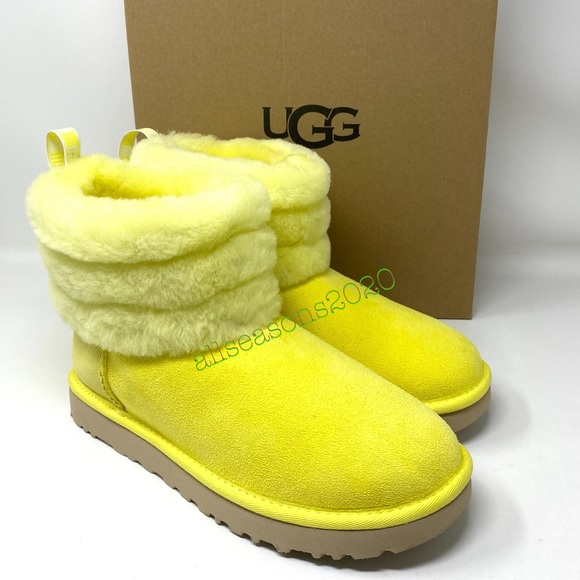 Ugg Womens Boot Fluff Mini Quilted Fur